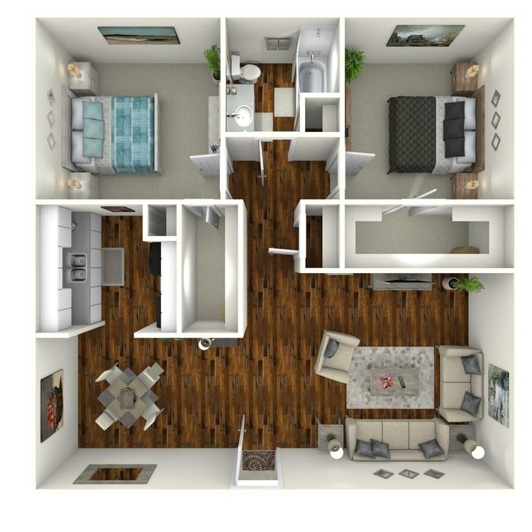 Floor plan image of Deluxe II Suite