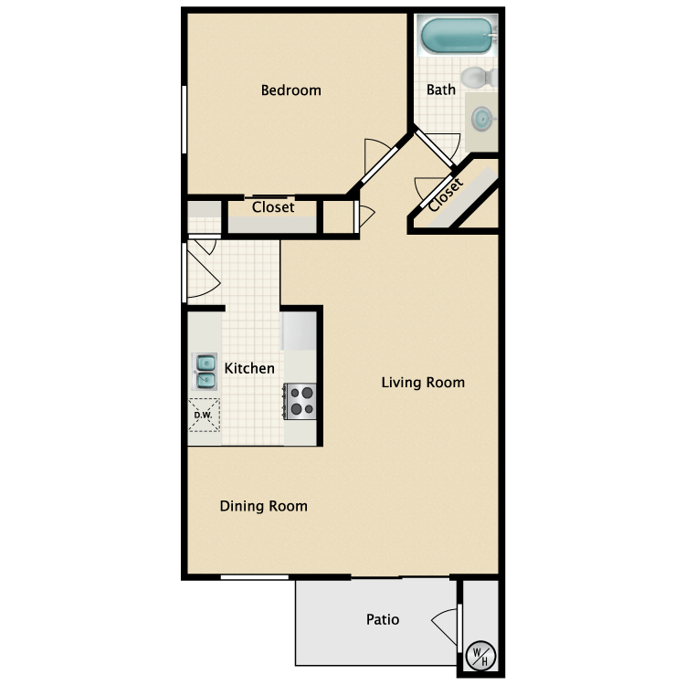 Floor plan image of B