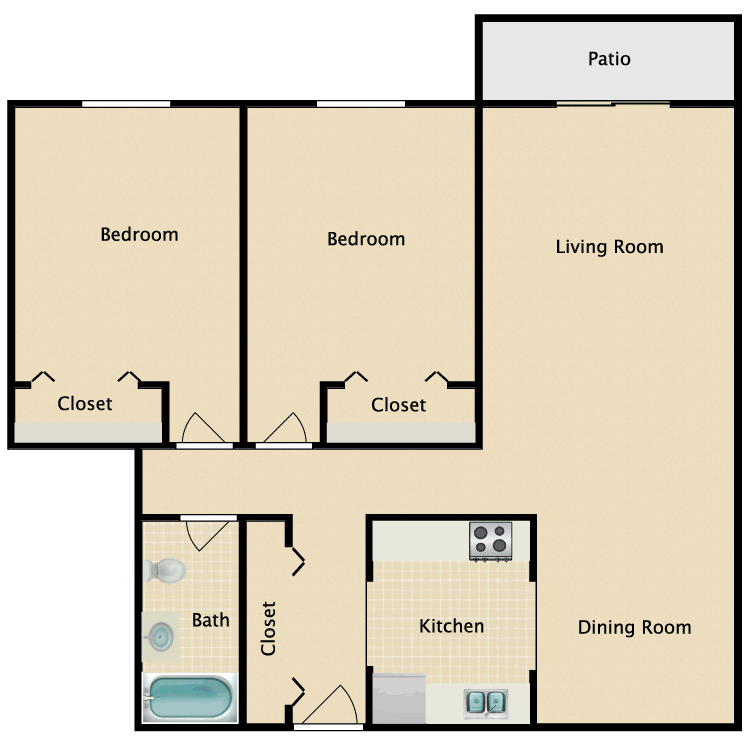 Floor plan image of Boston