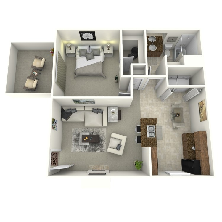 Floor plan image of 1 Bedroom Renovated (North)