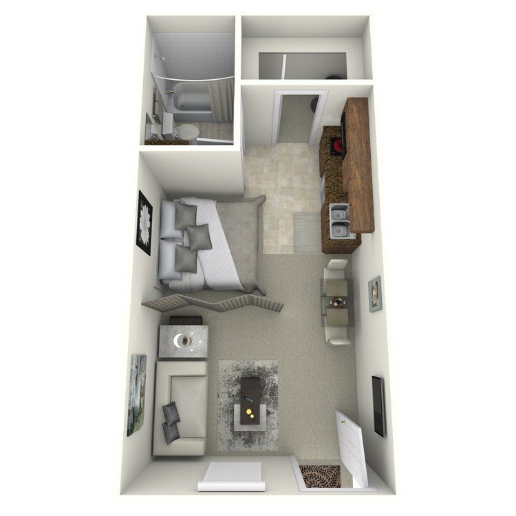 Floor plan image of Studio Renovated (North)