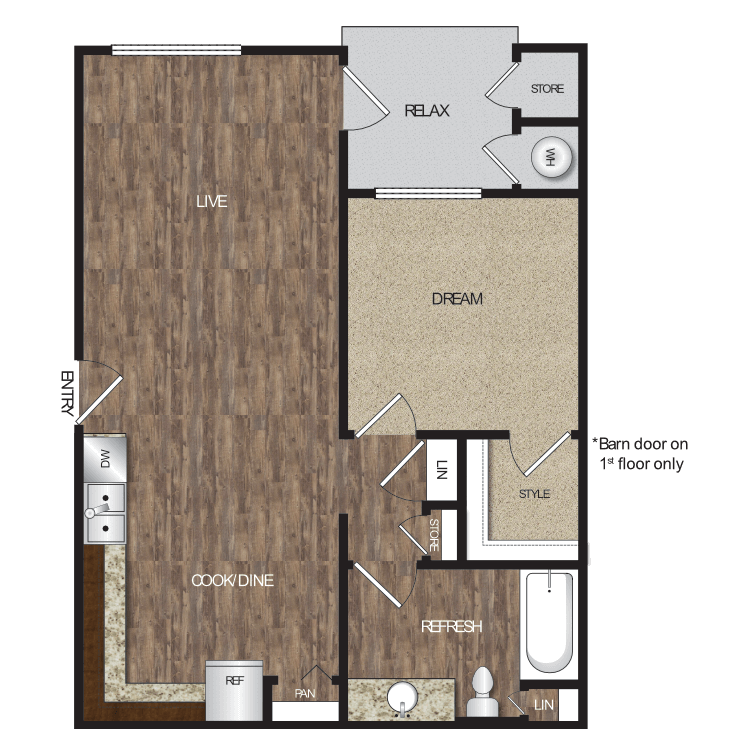 Floor plan image of Plan 1A