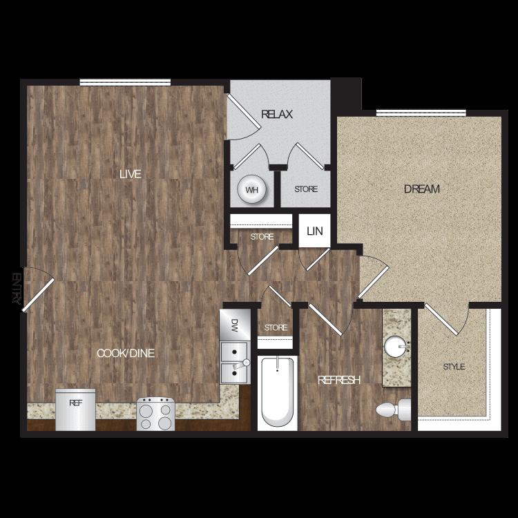 Floor plan image of Plan 1B