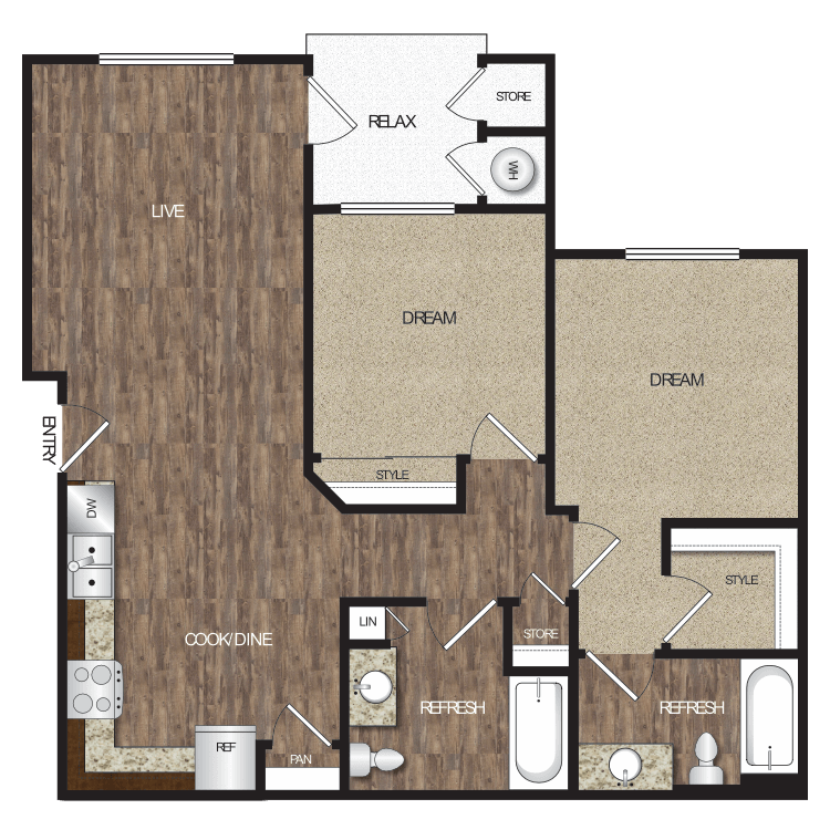 Floor plan image of Plan 2A