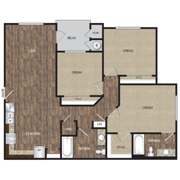 Floor plan image of Plan 3A
