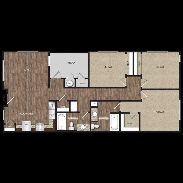 Floor plan image of Plan 3B