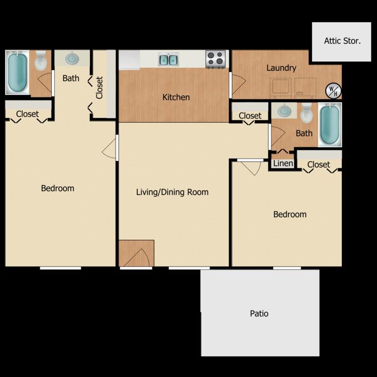 2 x 2 floor plan image