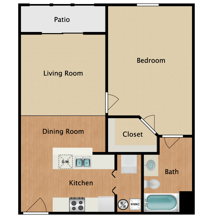 Floor plan image of 1 Bed Deluxe