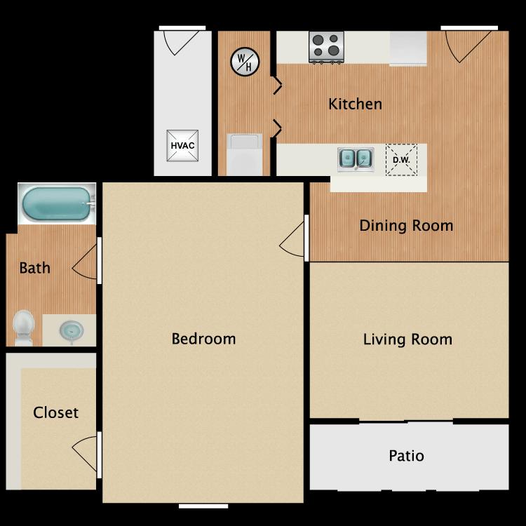 Floor plan image of 1 Bed Grand