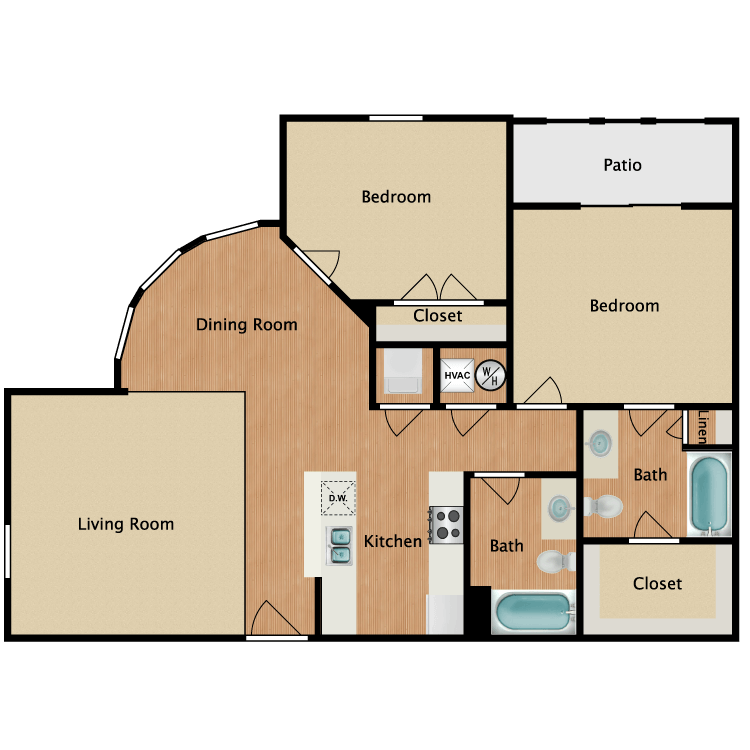 Floor plan image of 2 Bed Grand