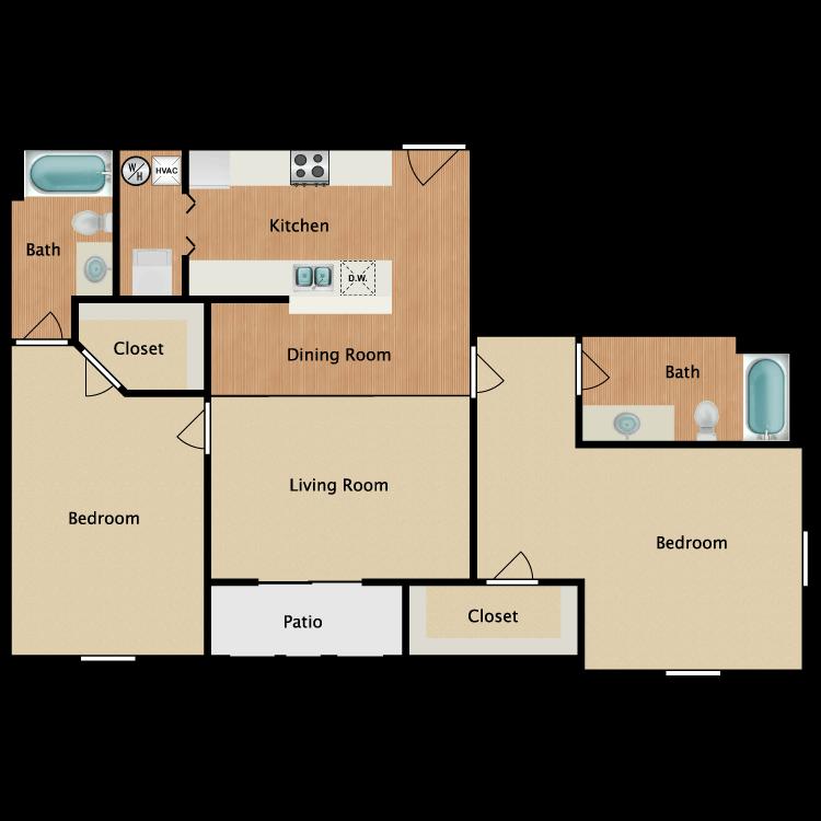 Floor plan image of 2 Bed Deluxe