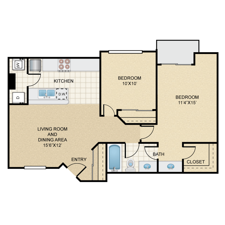 Floor plan image of Pecos