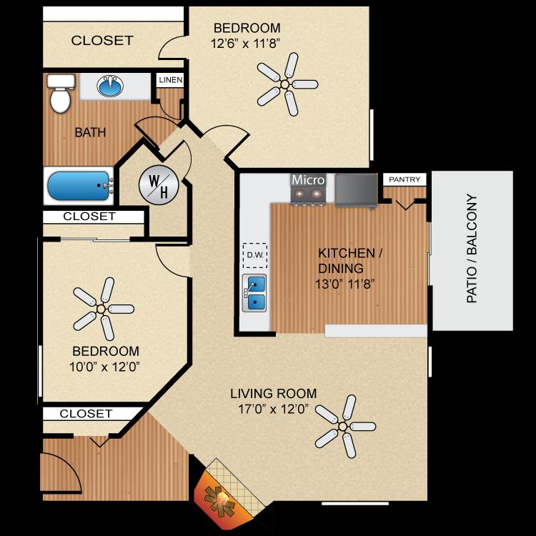 Floor plan image of B2 Casa Grande  *UPGRADED*