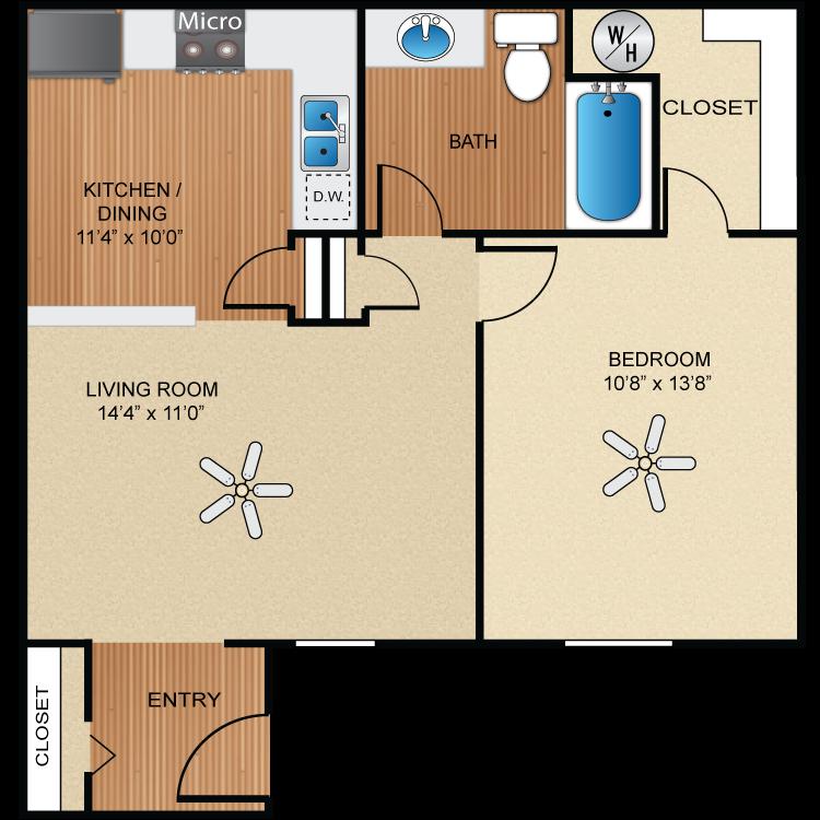 Floor plan image of A3 Rio Grande  *UPGRADED*