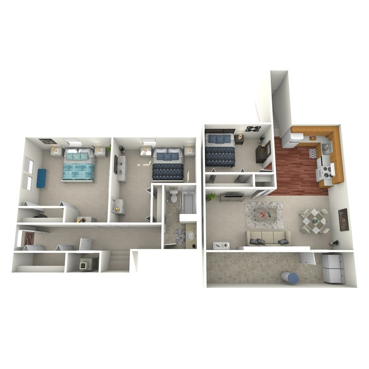 Floor plan image of 3 Bed 1 Bath House Downstairs