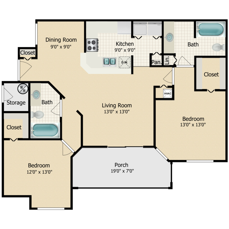 Floor plan image of Pebble Beach