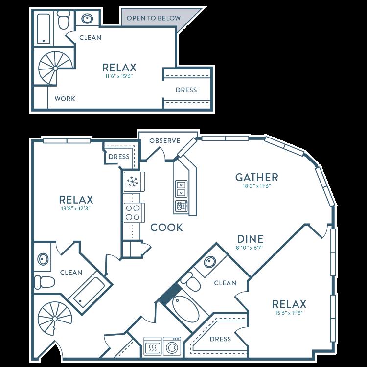 Floor plan image of C3