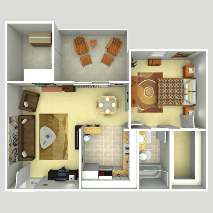 Floor plan image of 1B