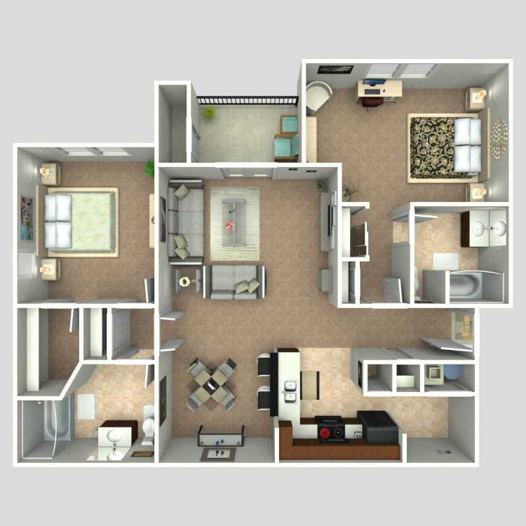 Floor plan image of The Riverside Deluxe