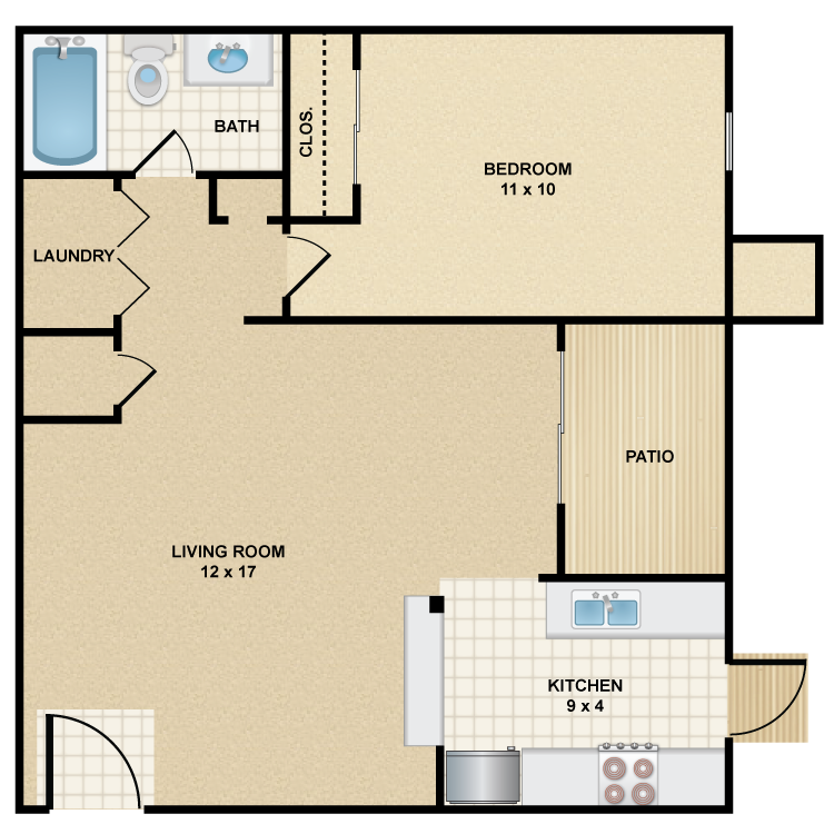 Floor plan image of A1 Stetson
