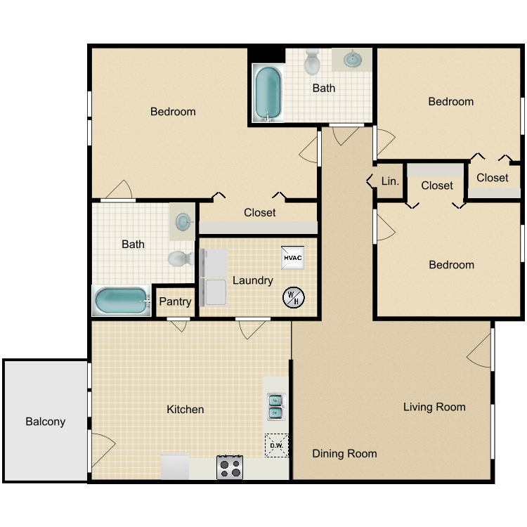 Crest floor plan image