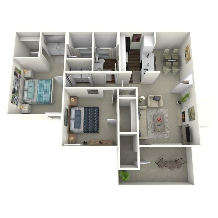 Floor plan image of 2x2 904