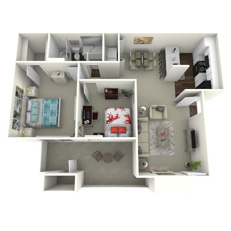 Floor plan image of 1x1 801