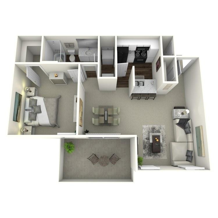 Floor plan image of 1x1 691