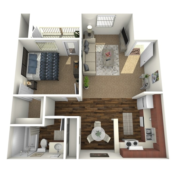 Floor plan image of One Bed A