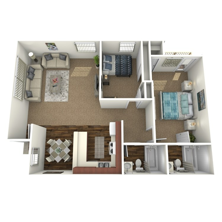 Floor plan image of Two Bed A