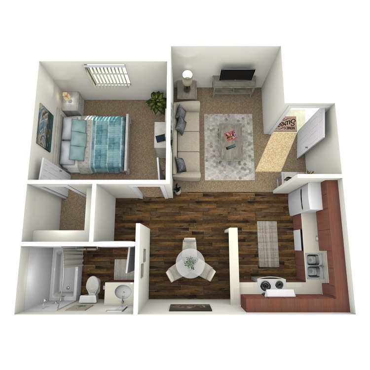 Floor plan image of One Bed