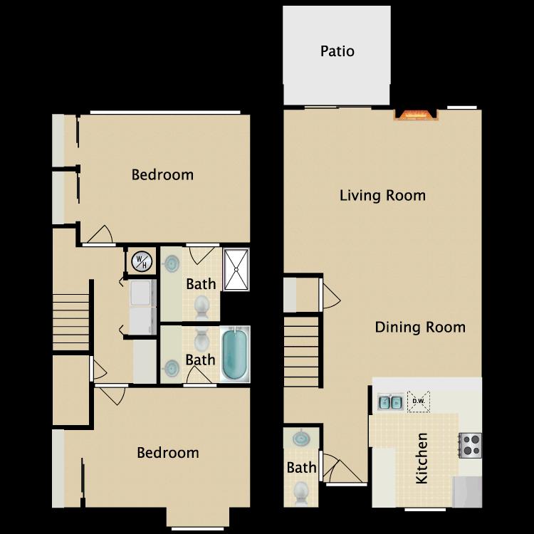 Floor plan image of Mayflower Townhouse