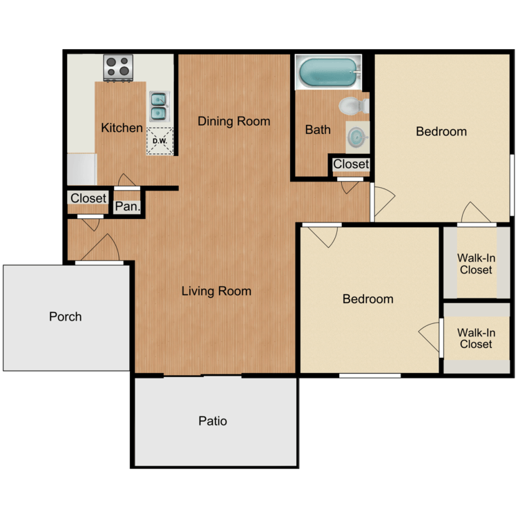 Floor plan image of Hacienda