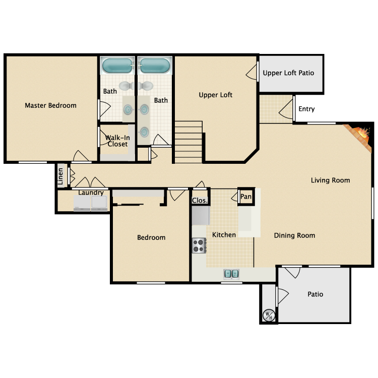 Floor plan image of Napoli Loft