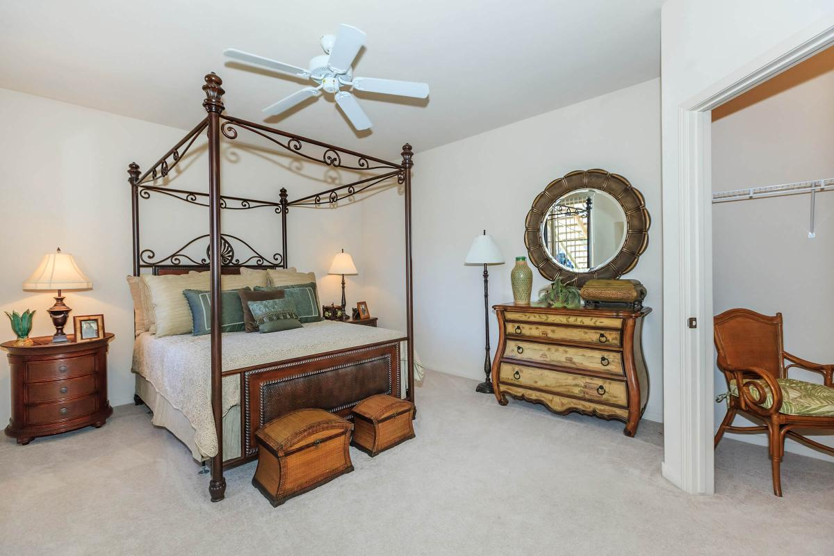 BEDROOM WITH LARGE WALK-IN CLOSET