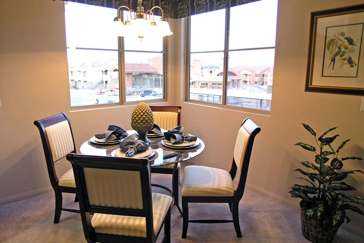 DINING AREA WITH WINDOWS