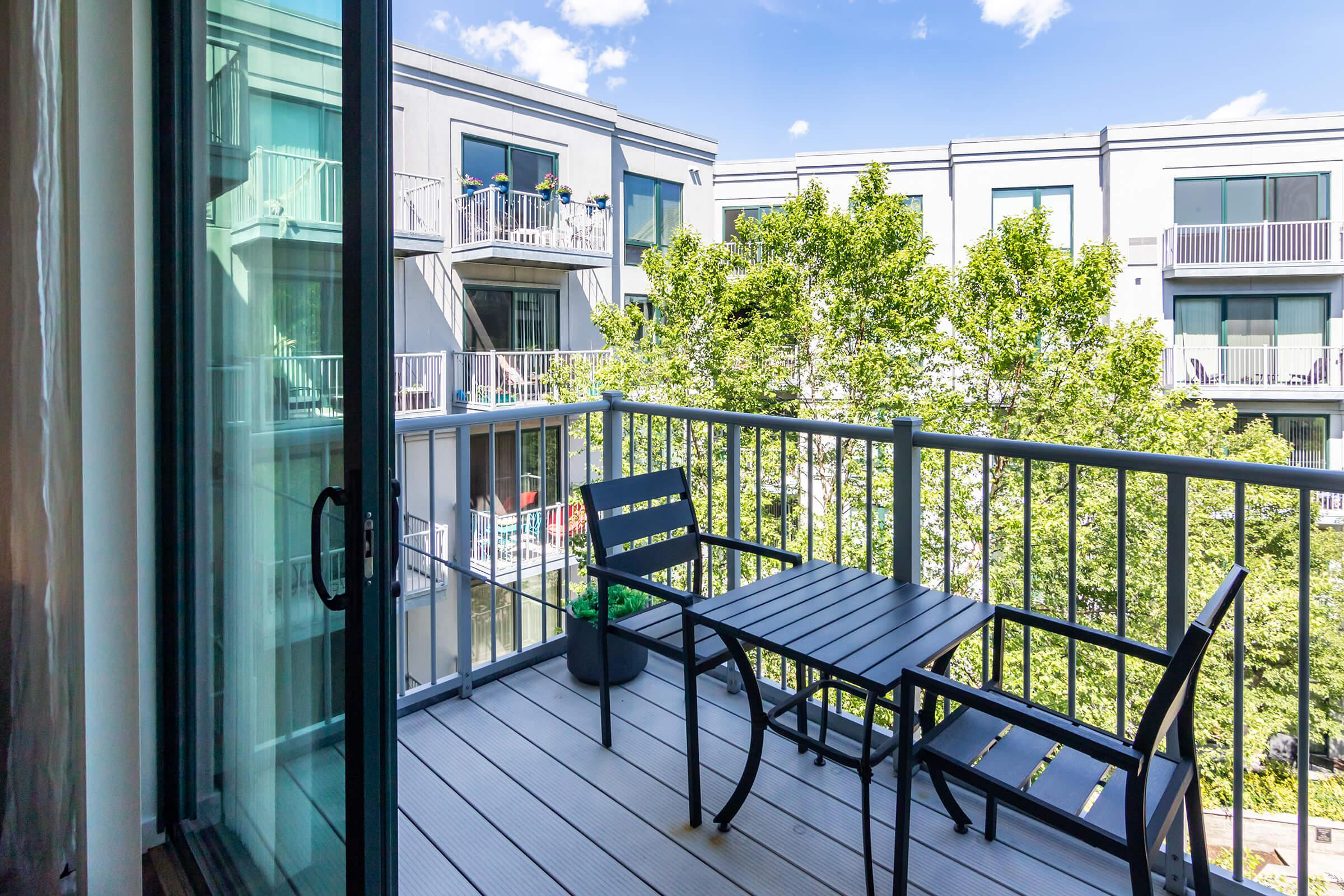 TAKE IN THE VIEWS FROM YOUR BALCONY