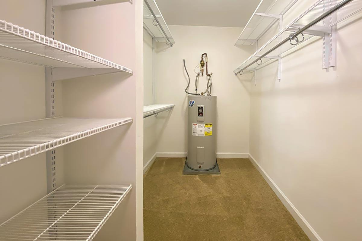 a stainless steel refrigerator in a room