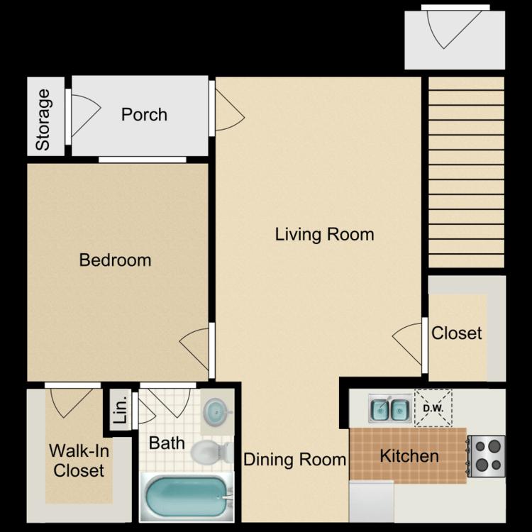 Floor plan image of A