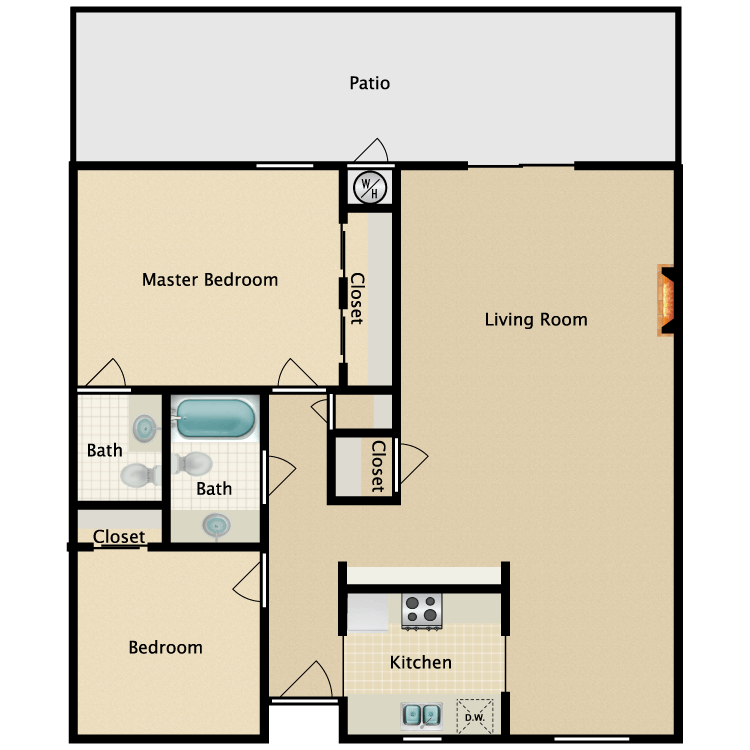 Floor plan image of The Harbor