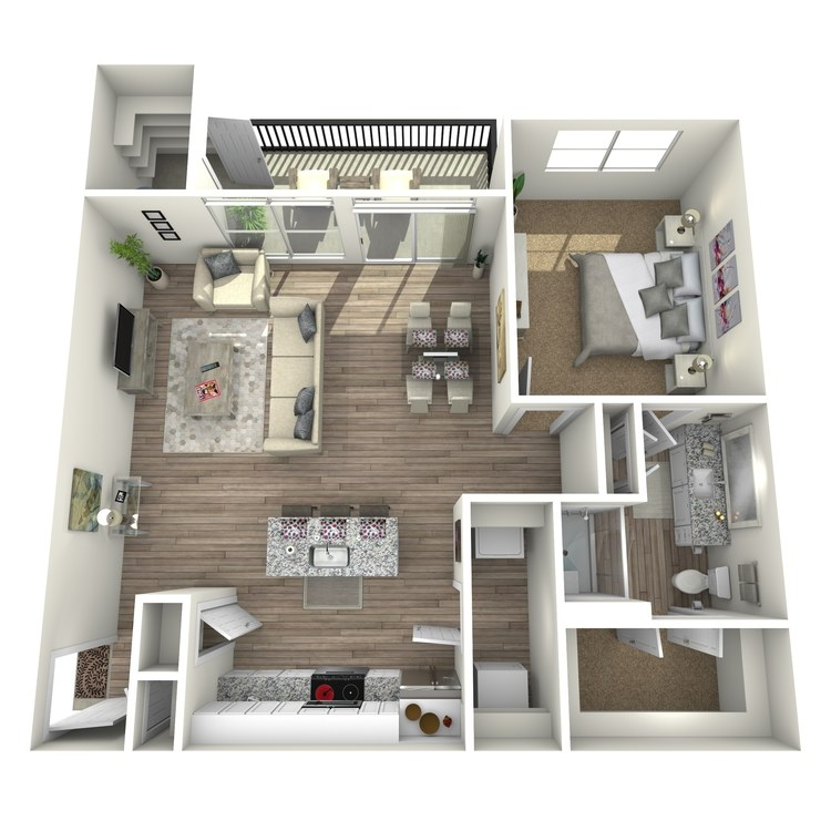Floor plan image of Hickory