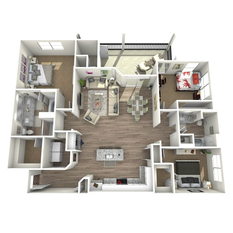 Floor plan image of Walnut