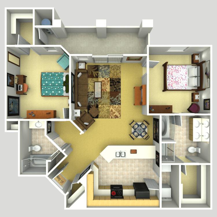 Floor plan image of Grier