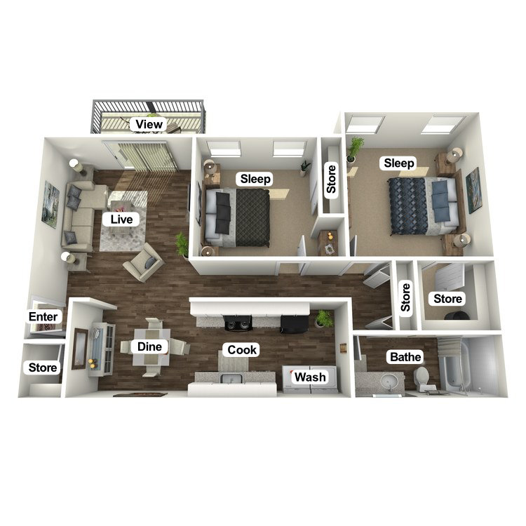 Floor plan image of The Juniper