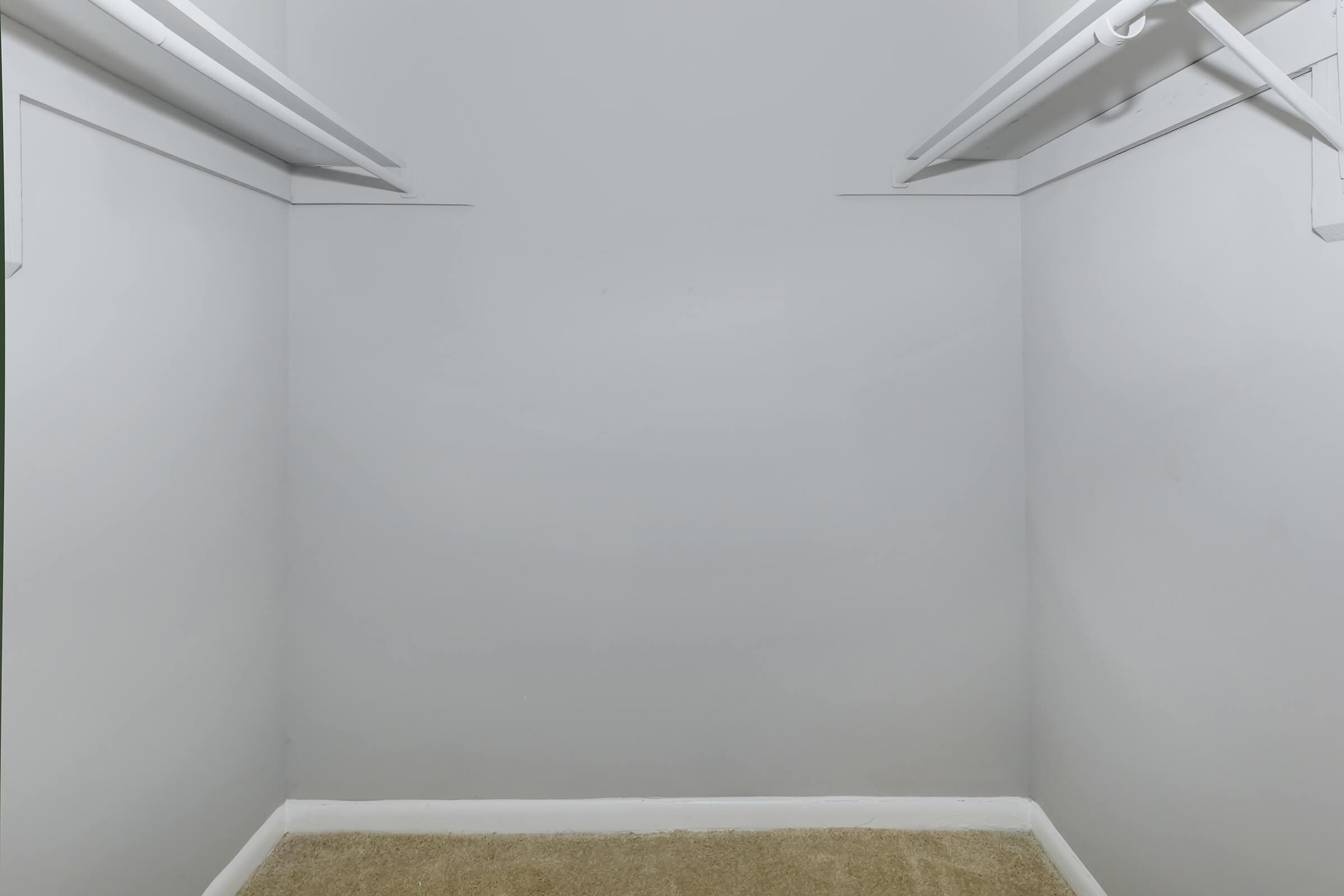 a person in a white room