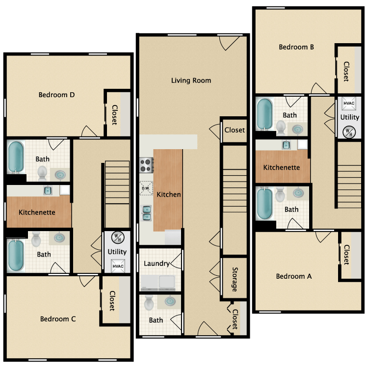 Floor plan image of Darby Townhouse
