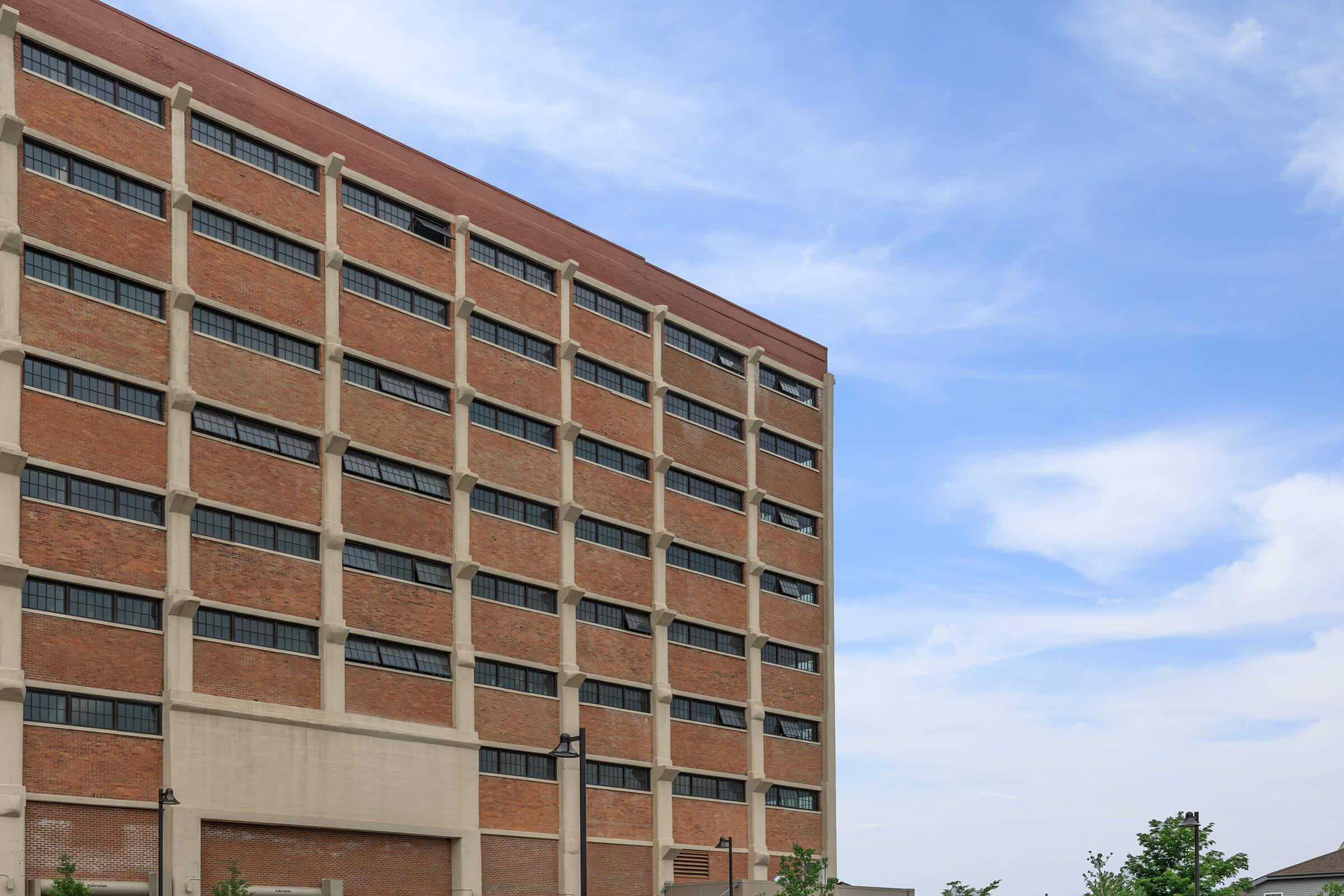 a large brick building