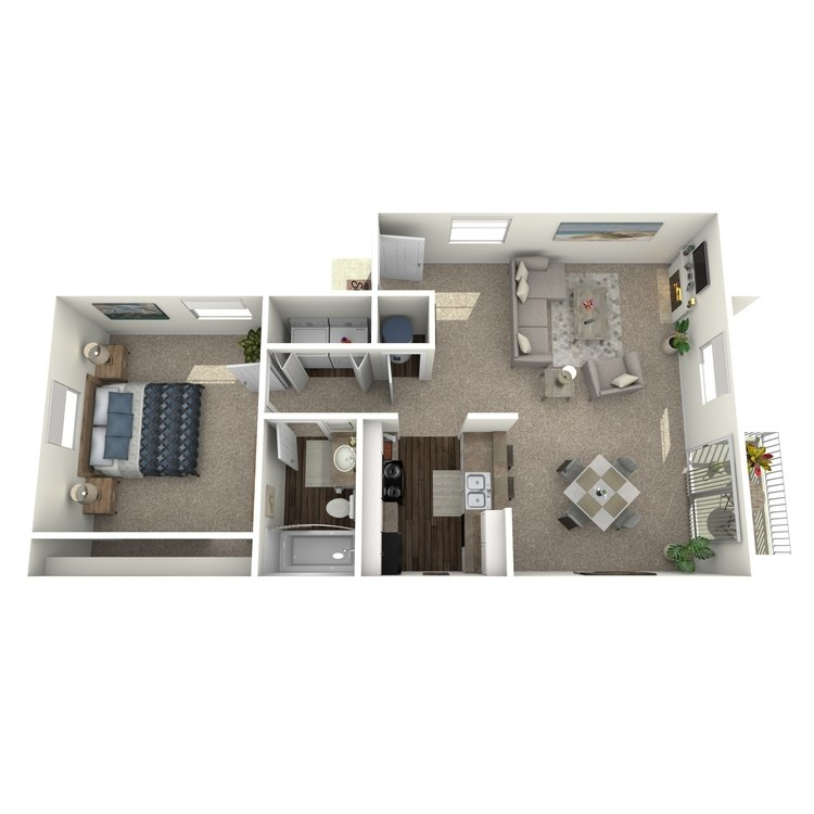 Floor plan image of 1 Bed 1 Bath