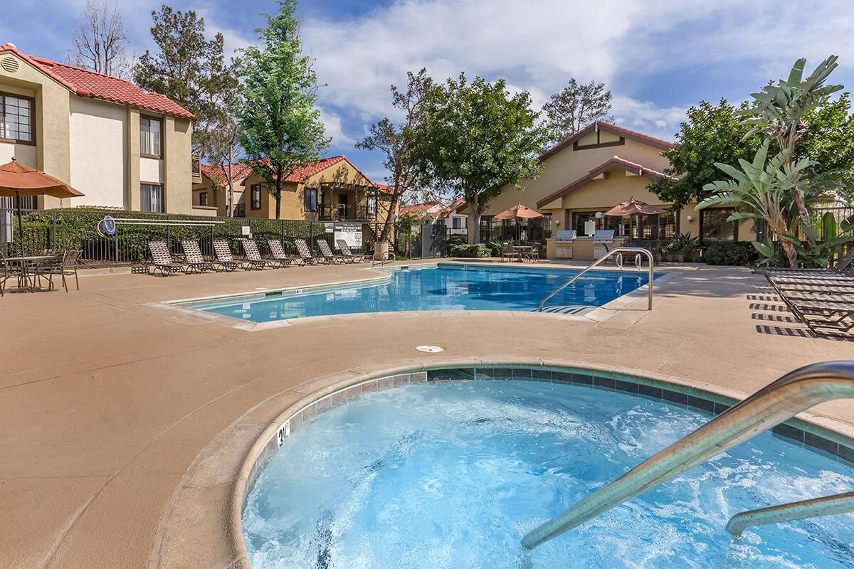 The community spa and the community pool