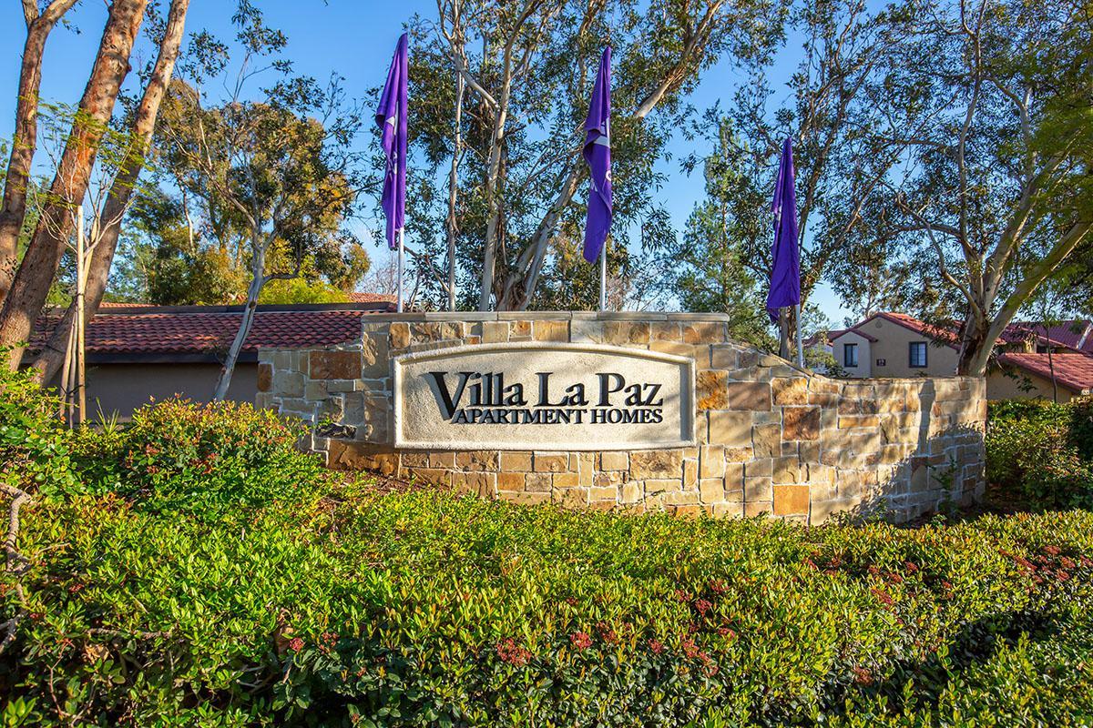 Villa La Paz Apartment Homes monument sign